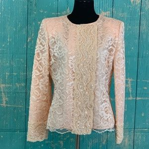 Christian Dior Vintage Embellished Lace Jacket